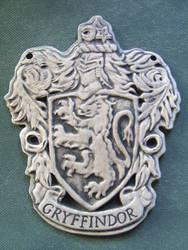House Gryffindor Clay Carving Crest