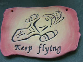 Keep Flying Clay Firefly Serenity Hanging Plaque
