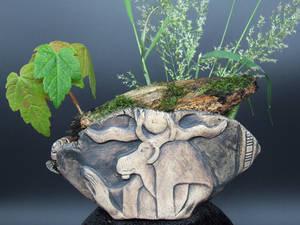Khnum Egyptian Bonsai Kusamono Display Pot