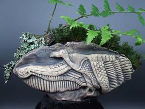 Mut Egyptian Goddess Kusamono Bonsai Pinch Pot
