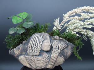 Egyptian Theban Noble Kusamono Display Pinch Pot