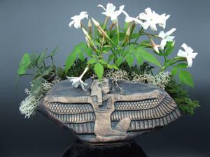 Kusamono Display Pinch Pot Egyptian Ma'at