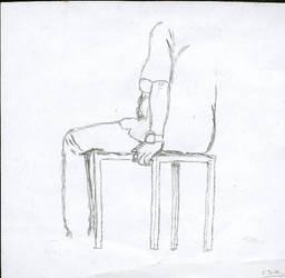 Kid sitting on chair