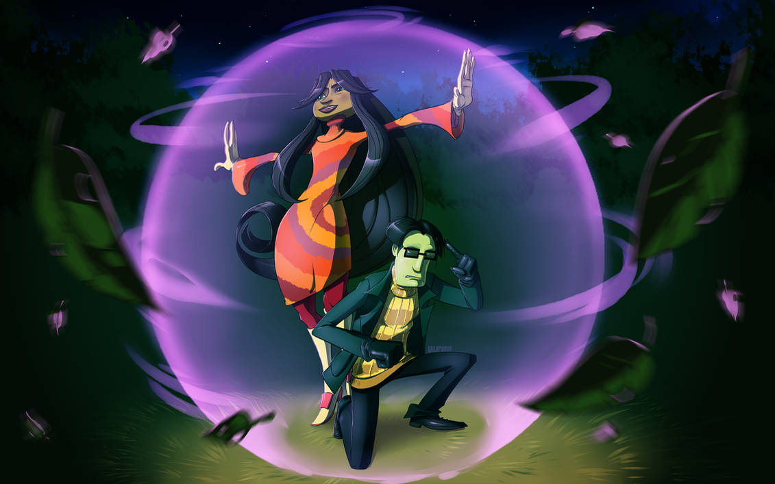 Psychic Partners (Wallpaper) by wildragon ...