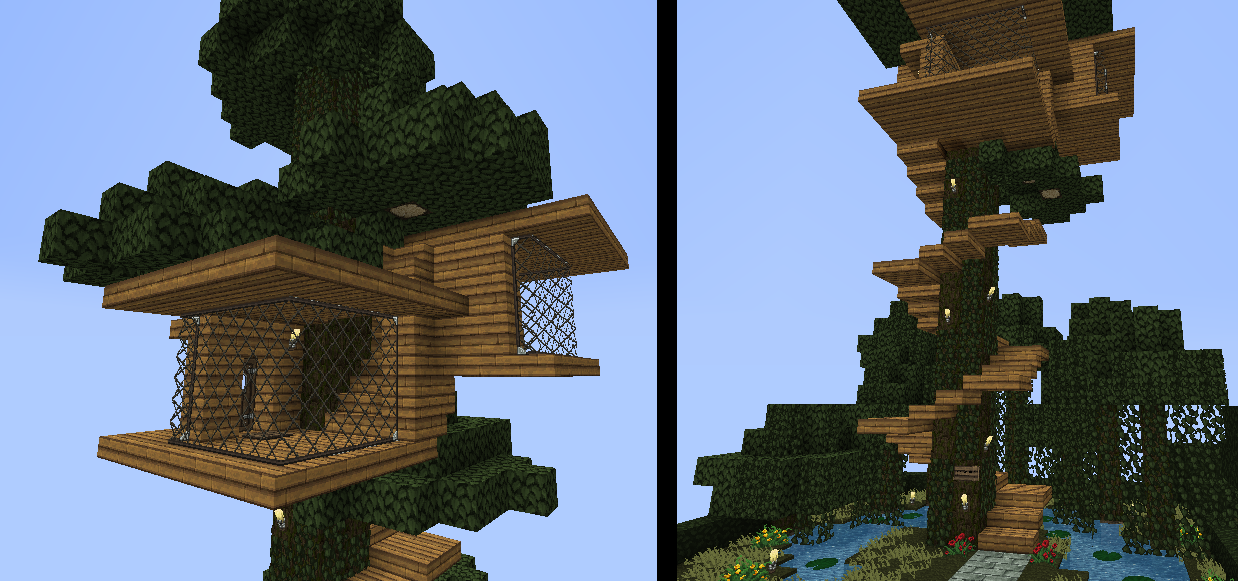 дома домик на дереве в майнкрафт для начинающих можете