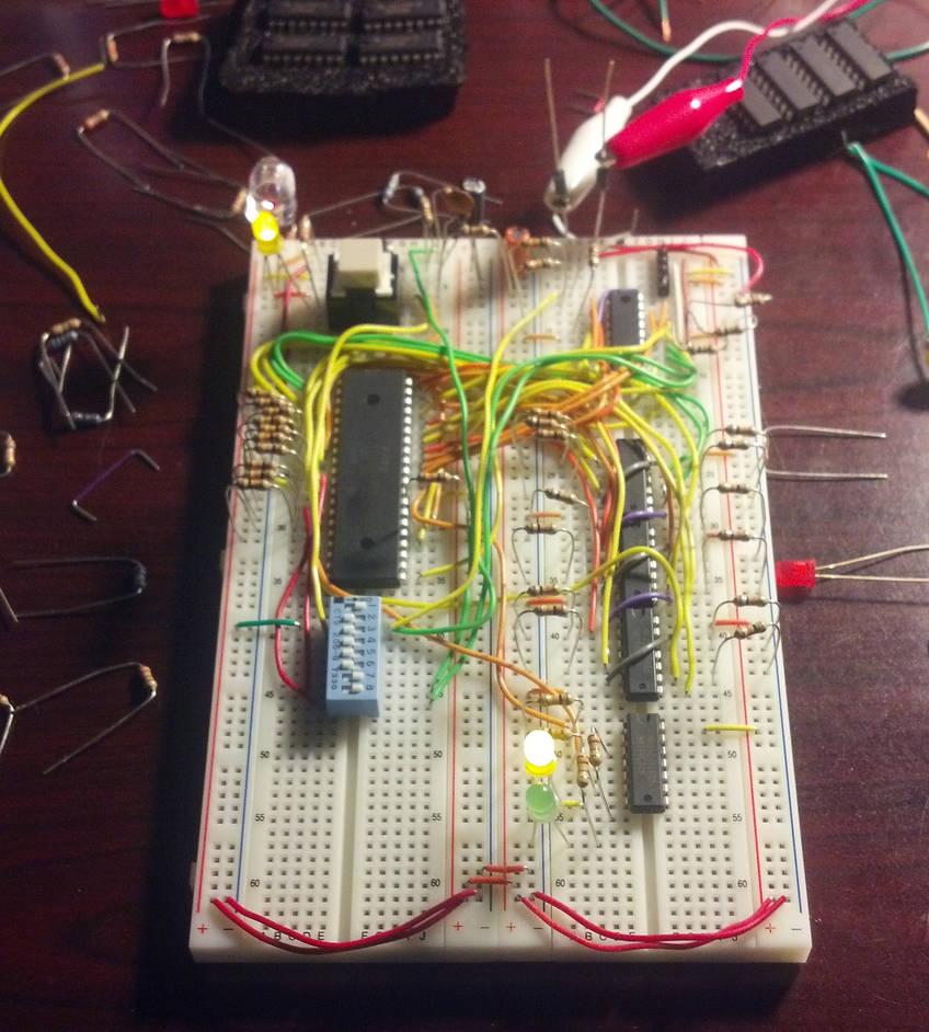 Third Z80 Computer Breadboard Test by HamburgerHelperPlz on DeviantArt