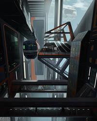 Space Station Sky Train by Cereberus8