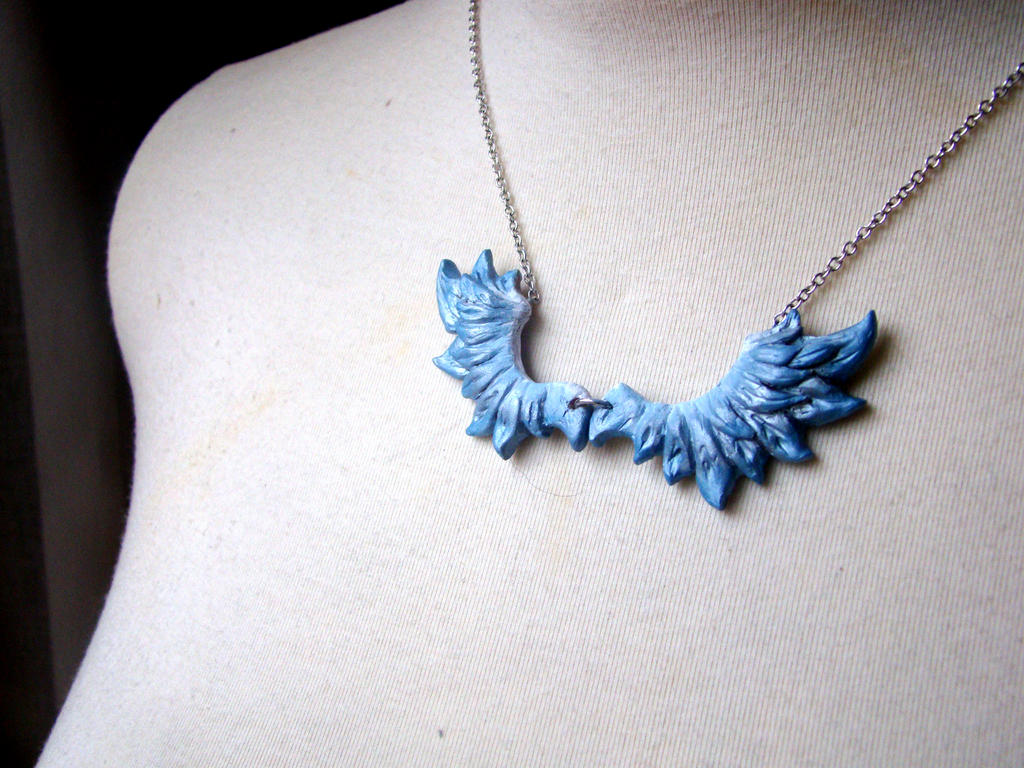 Blue Winged Necklace by SprinkleChick