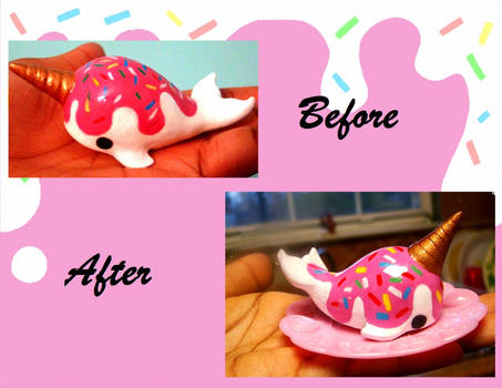 Before ans After Ice Cream Narwhal
