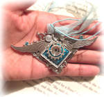 Angel winged necklace
