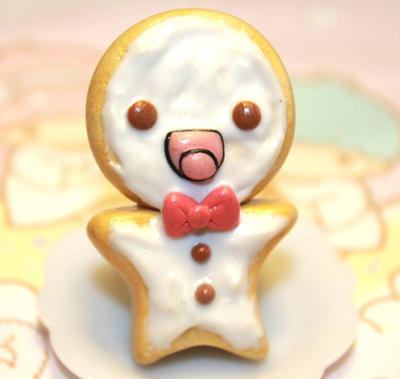 Kawaii Ginger bread cookie ring by SprinkleChick