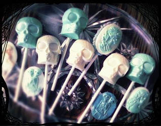 White Chocolate Skull Candy by OneBadHat