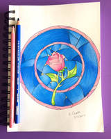 Stained Glass Rose by ElvenWarrior14