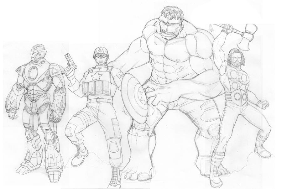 Ultimate Avengers Sketch By Khazen On DeviantArt