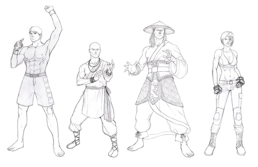 Line Art Xl 2011 : Mortal kombat sketches by khazen on deviantart