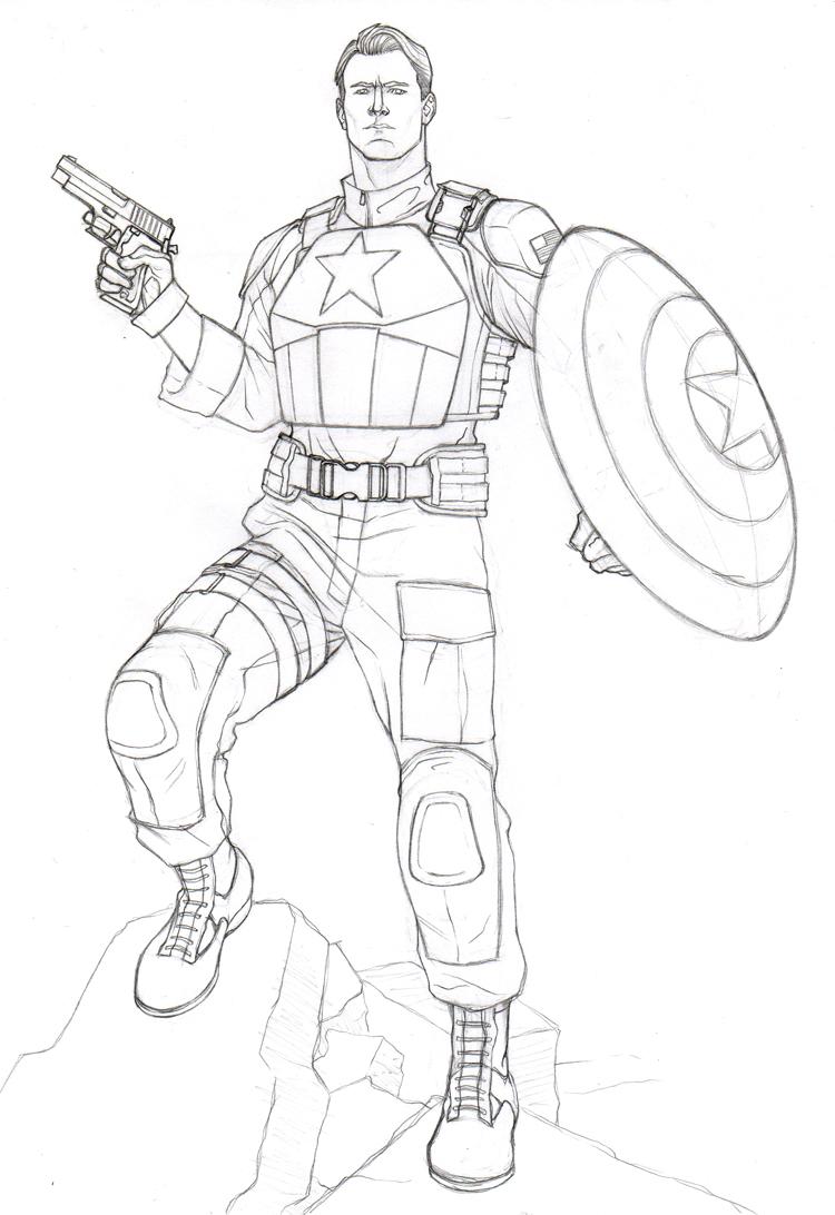 Captain America Ausmalbilder: Captain America By Khazen On DeviantArt