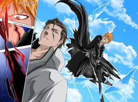 Ichigo vs Aizen by drake---666