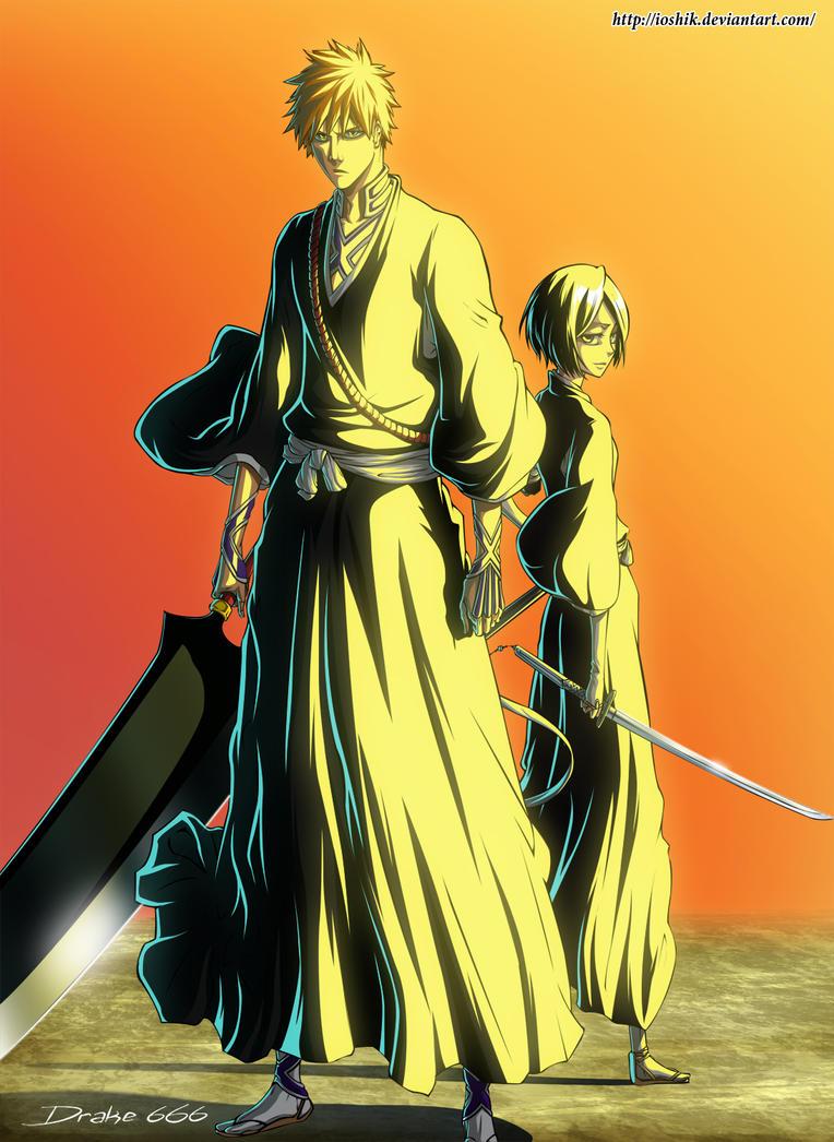 Ichigo and Rukia by drake---666