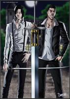 Tsukishima and Ginjo by drake---666