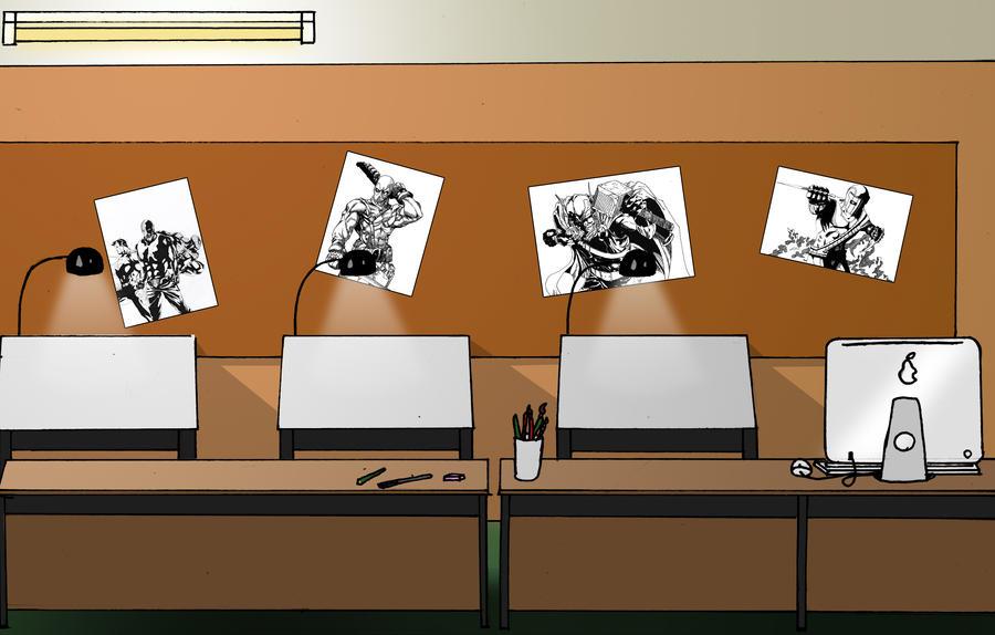 Unit 13 comic studio backgroun by iamherecozidraw