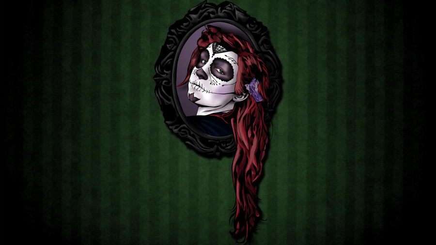 Sugar Skull Girl by iamherecozidraw
