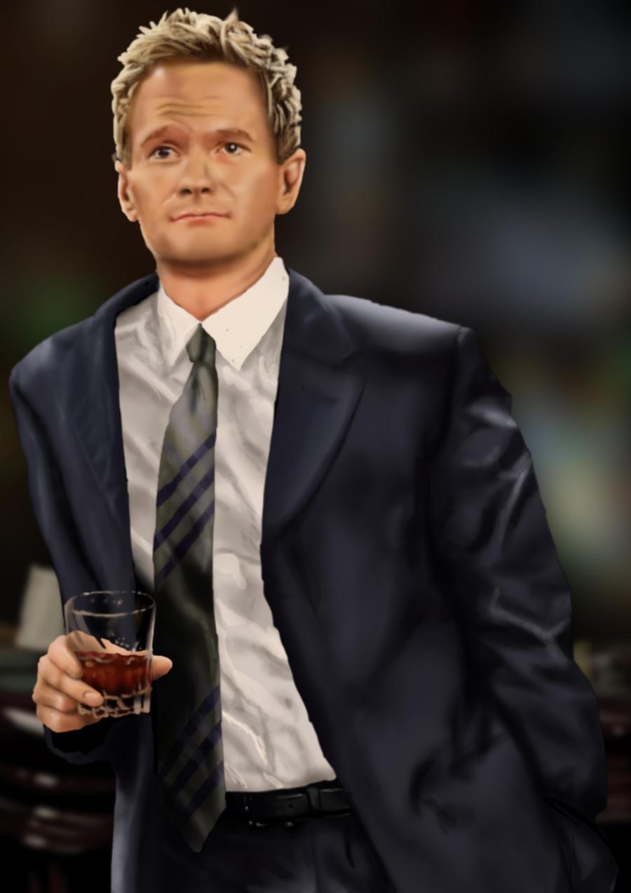 Barney Stinson (Neil Patrick Harris) by iamherecozidraw