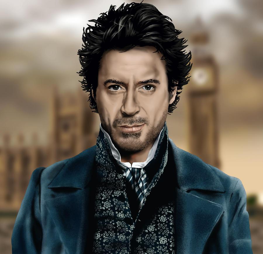 Sherlock Holmes (Robert Downey Jr) by iamherecozidraw
