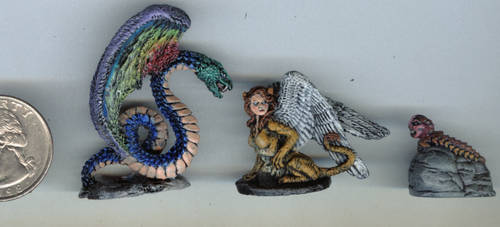 Three RPG minis