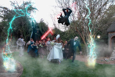 Sith Attack On The Wedding Party by QuantumSushi