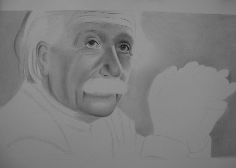 In Progress Albert Einstein 1 by sandritta88