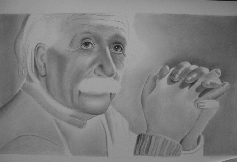 In Progress Albert Einstein 2 by sandritta88