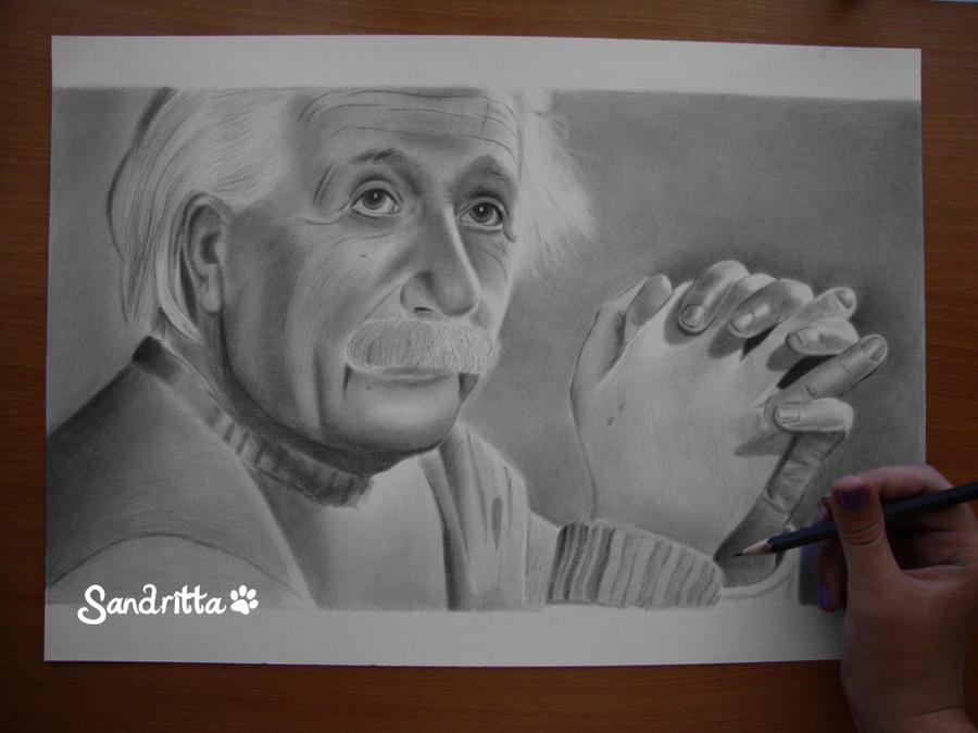 In Progress Albert Einstein 3 by sandritta88