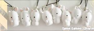 Charm - White Bunnies