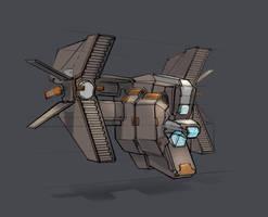 Spaceship of sorts by ksenolog