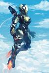 Flying cyborg