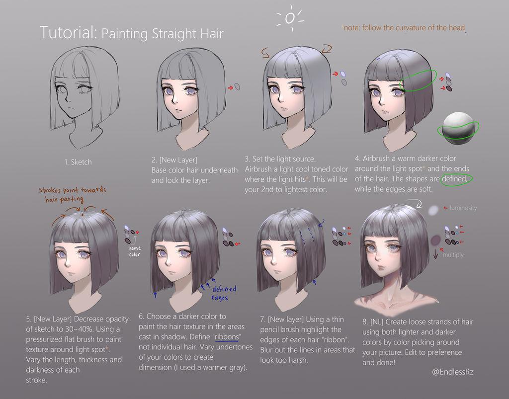 Tutorial: Painting Straight Hair