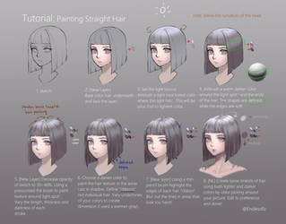 Tutorial: Painting Straight Hair by EndlessRz