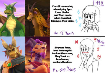 Spyro: Then and Now by RoseMary1315