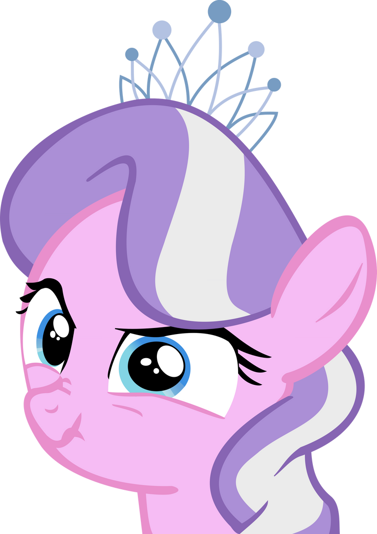 Diamond Tiara Scary Face by MetaTiara