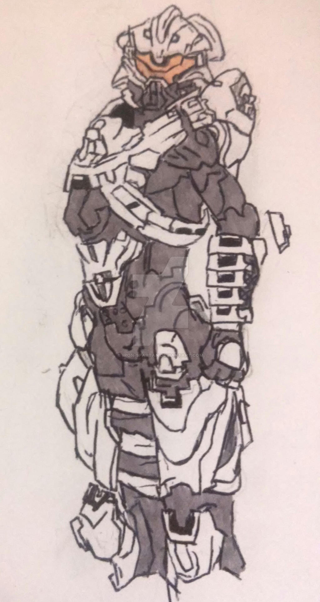 Halo 5 Guardians Helioskrill armor sketch by iron-spartan ...