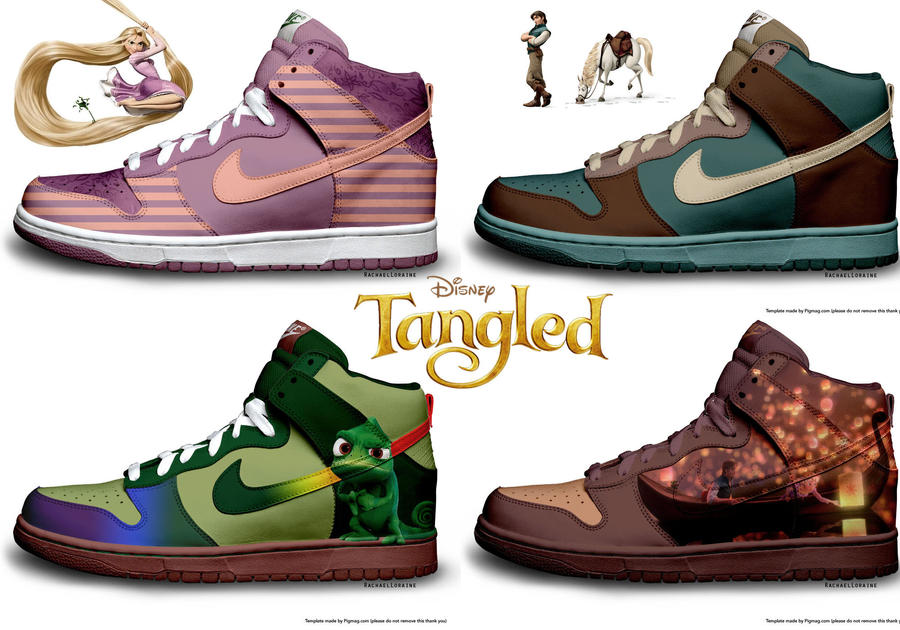 tangled nike collection by rachaelloraine on deviantart