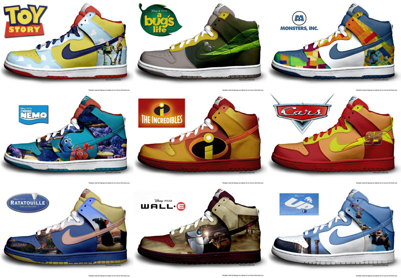 Pixar Nike by RachaelLoraine ...