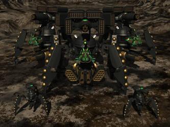 Siege Daleks by IcehawkPrime