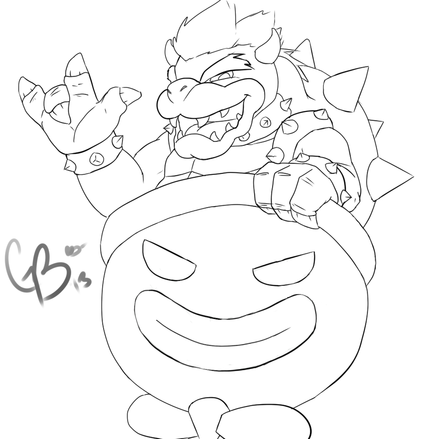 baby bowser coloring pages - photo #8