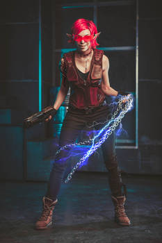 Shadowrun cosplay by Octokuro