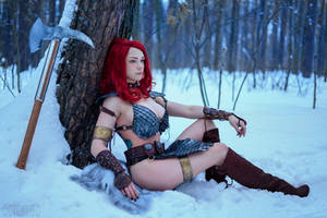 Red Sonja cosplay by octokuro