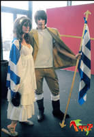 Greece and his mother Cosplay by Yamato-Leaphere