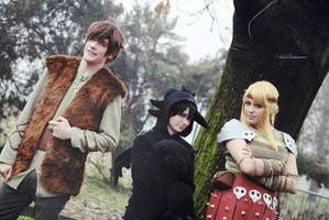 HTTYD ~ Hiccup, Toothless and Astrid II by Yamato-Leaphere