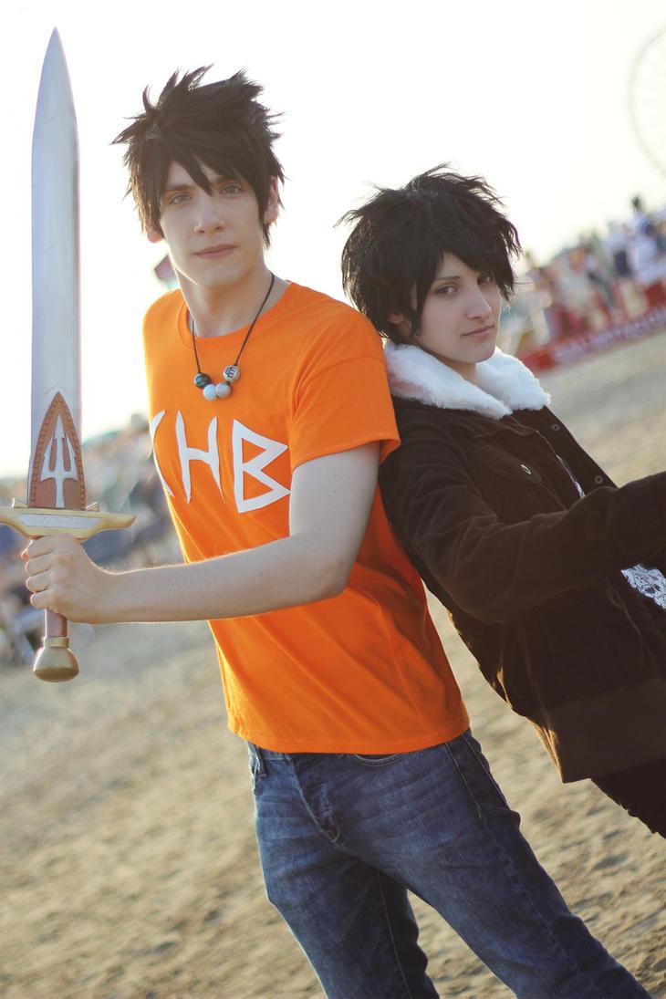 Heroes Of Olympus ~ Percy and Nico by YamatoTaichou