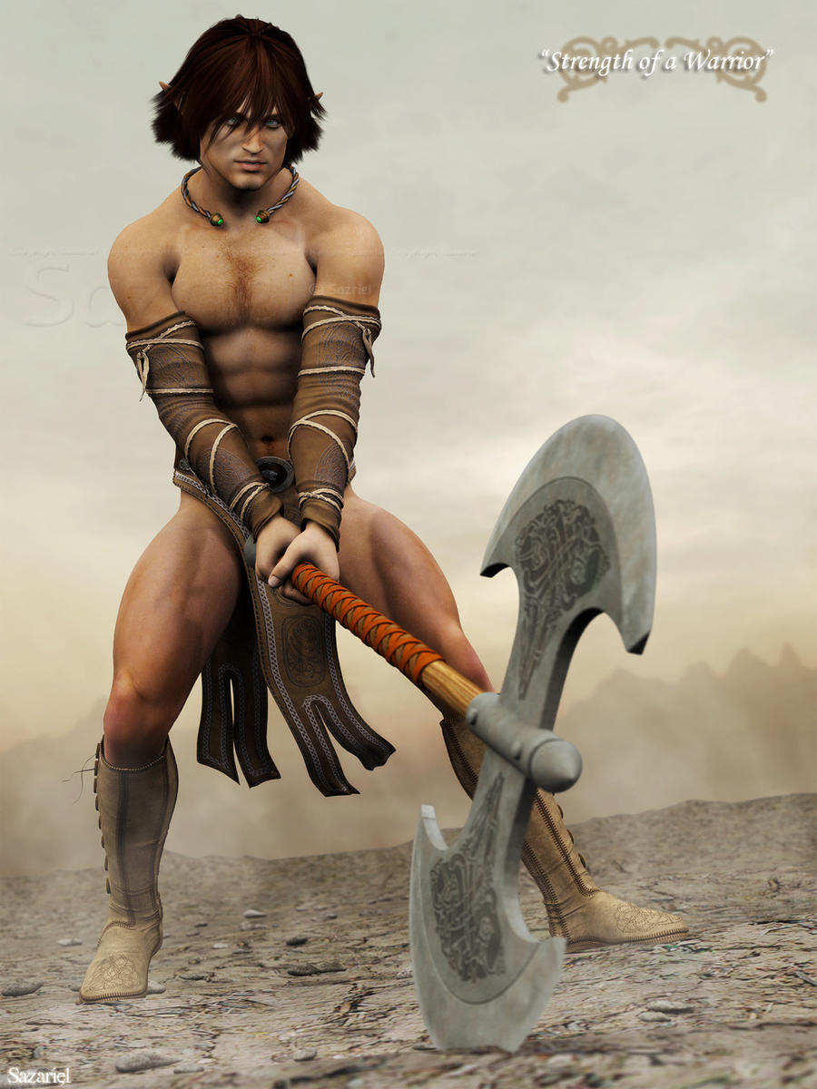 Nude male warrior fantasy photos sexy pics